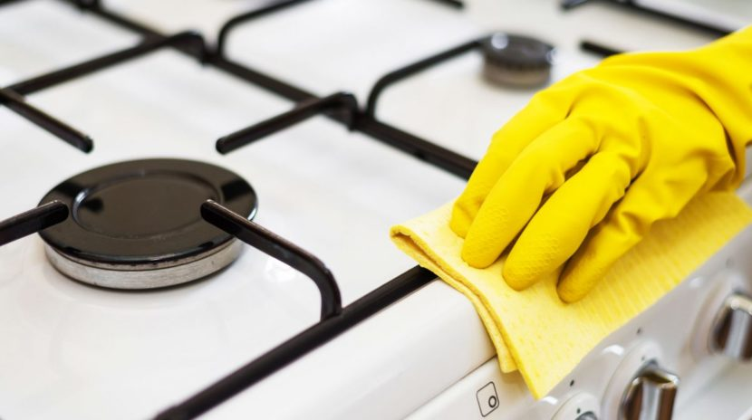 Cleaning your stove the right way with some assistance
